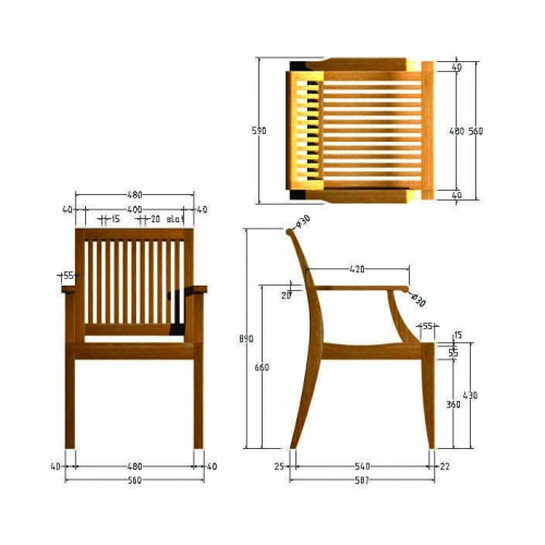westminiter teak plantation chairs