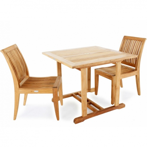 square teak outdoor tables