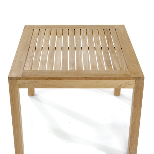 teakwood patio square cafe table