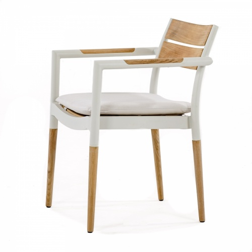 teak and metal furniture dining chairs