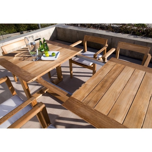 modern teak and patio outdoor set