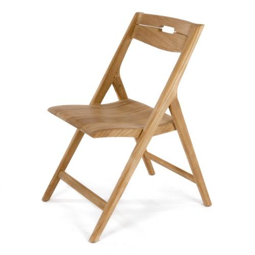 surf folding teak side chairs