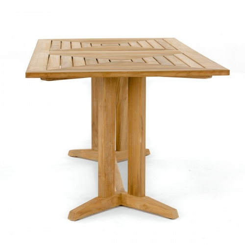long rectangular outdoor teak table