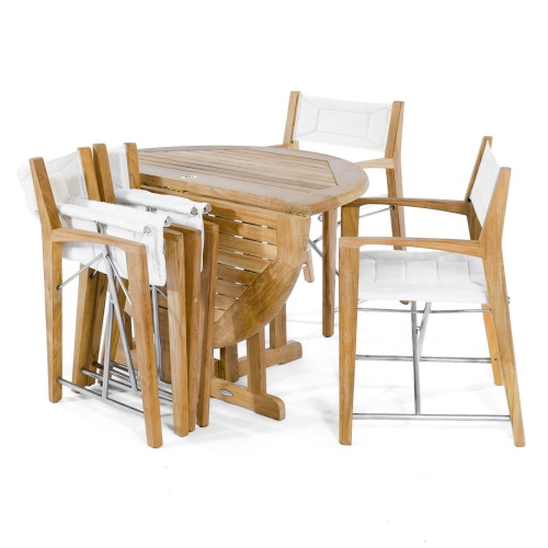 folding round boat dining set