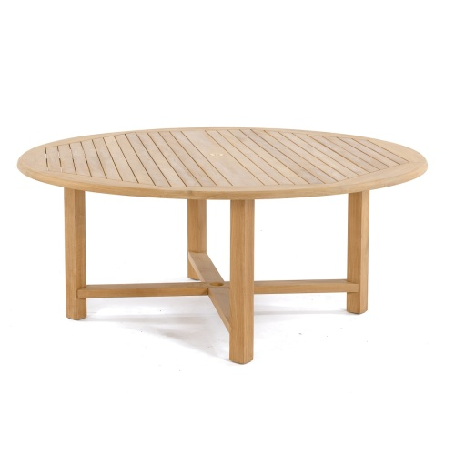 6ft teak round table dining