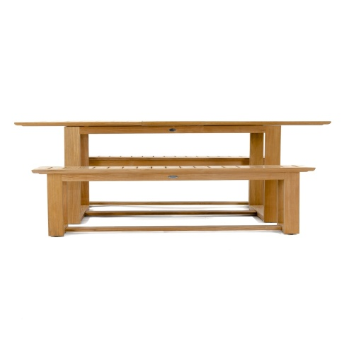 wooden picnic bench set for 6