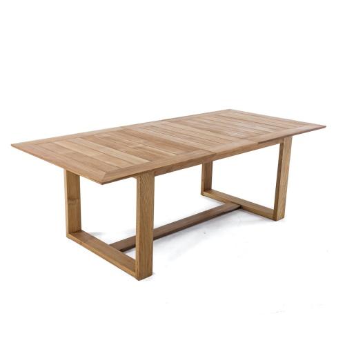 patio teak rectangular table