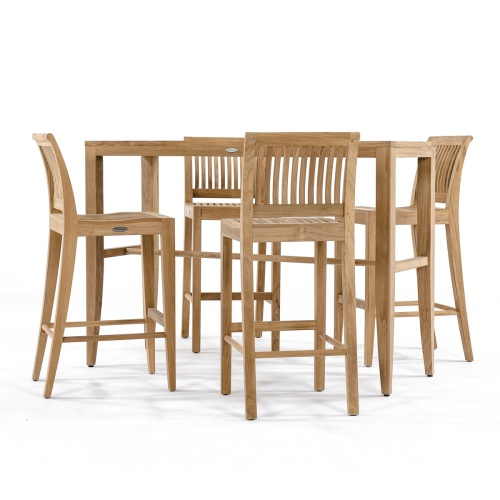 teak 4 pc patio bar set outdoor