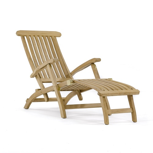 teak steamer lounge chair