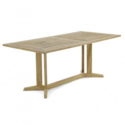pyramid rectangular table teak
