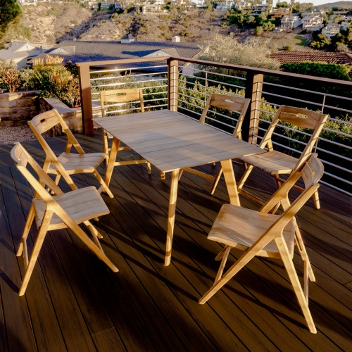 outdoor dining teak