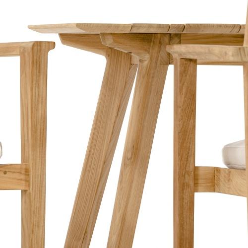 rectangular teak table set for 6