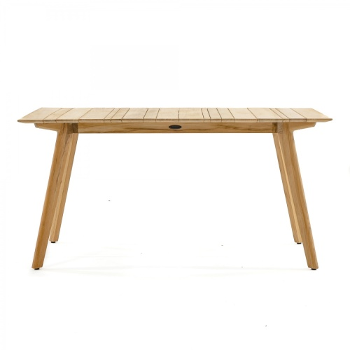 teak rectangular slat top table