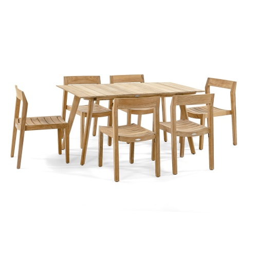teak patio conversation set