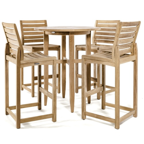 patio bar height table and chairs