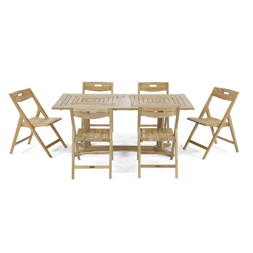outdoor teak furniture 7 piece set