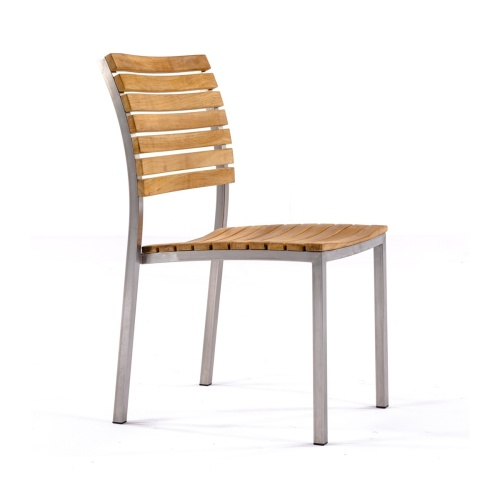 stainless steel teak outdoor chair