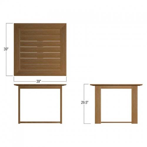 bistro teakwood patio table