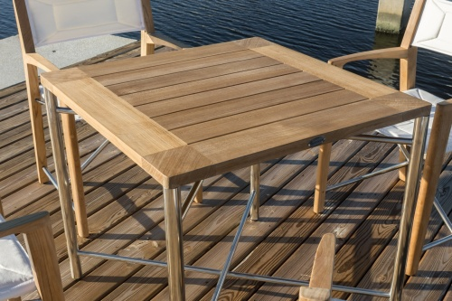 reclaimed teak square dining table