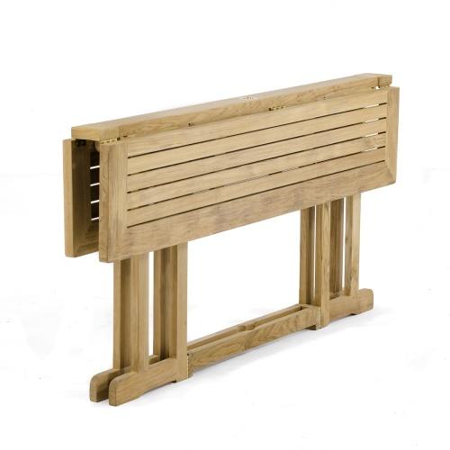 outdoor teak folding dining table
