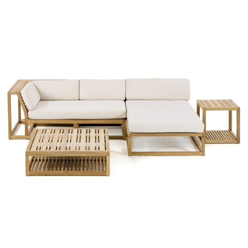 modular teak outdoor sofa