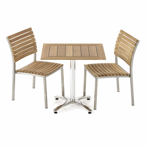bistro teak patio dinette set