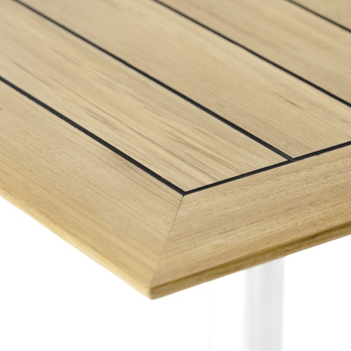 commercial contemporary teak 24 square table