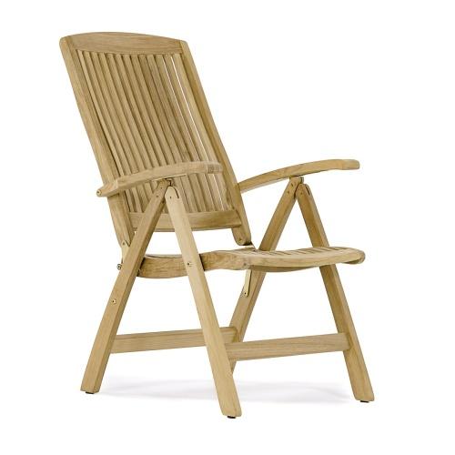 Yacht Teakwood Recliner Chair