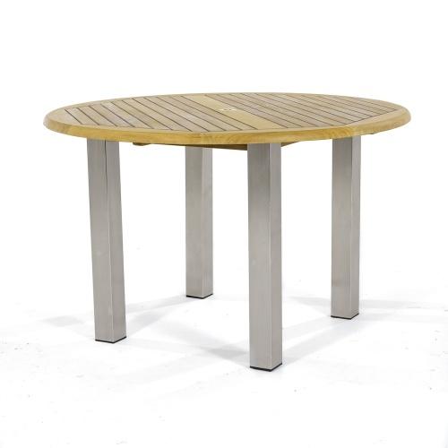 47 inch round outdoor teak table