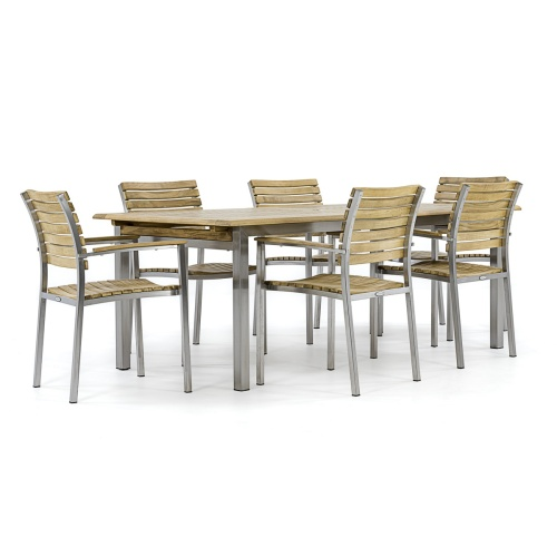 Vogue 7 Pc Stacking Dining Set