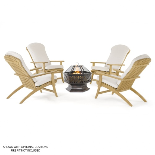 solid teak wood adirondack relaxing garden chair
