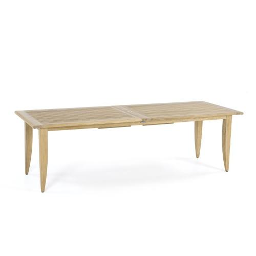 teak rectangular garden table