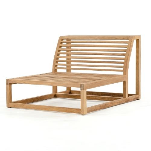 teak couch frame armless
