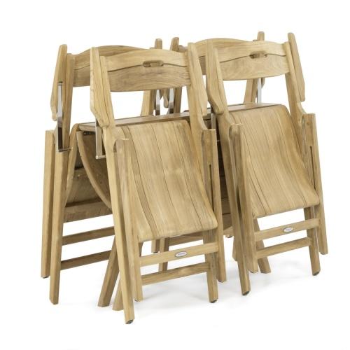 Deck Folding 5 Piece dinng Set