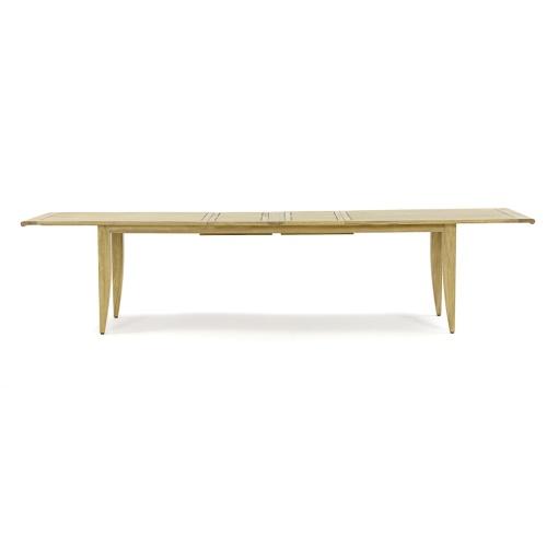 large teak rectangular extending dining table