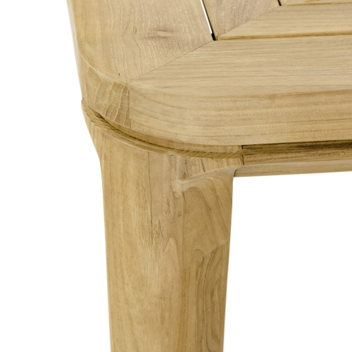 square outdoor teakwood table