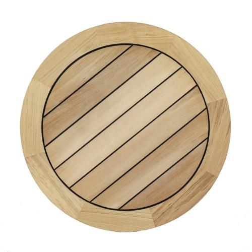 round teakwood marine sealed table top