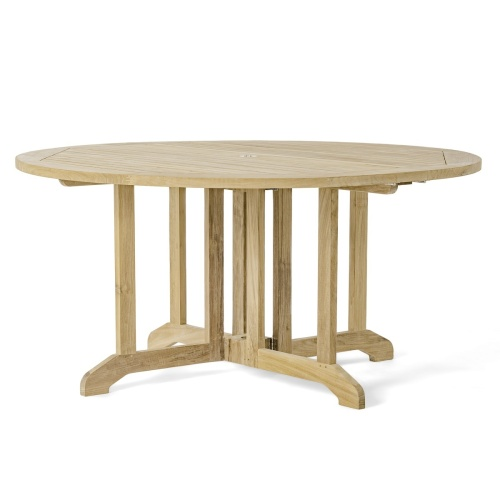 Round Wooden Drop Leaf Table