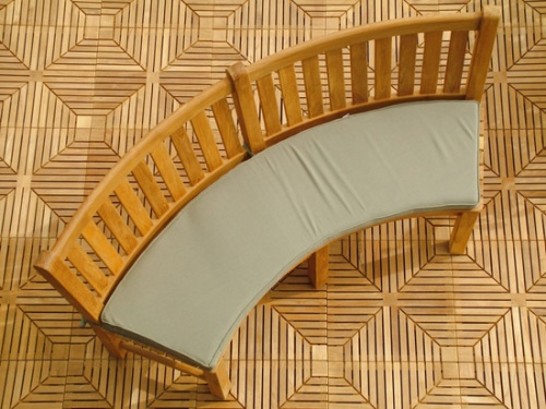 curved teak bench cushions