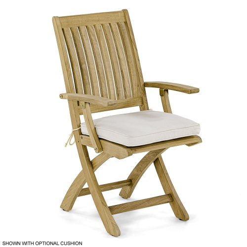 Folding Teakwood Armchairs