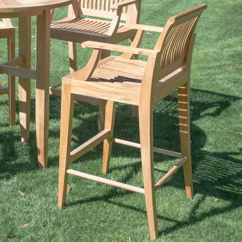 teak bar stools with arms