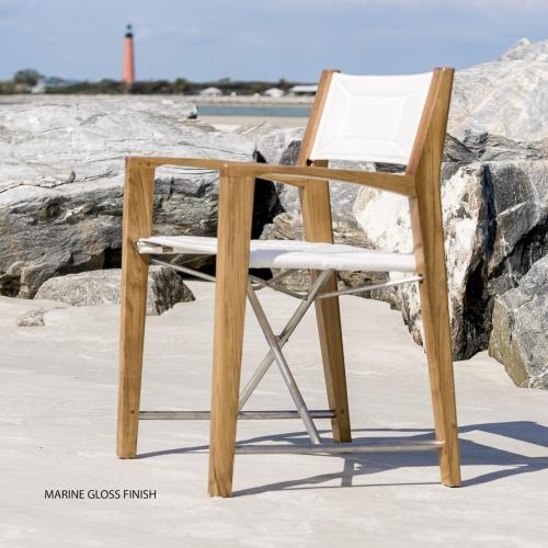 Odyssey Teak Wooden Directors Chairs
