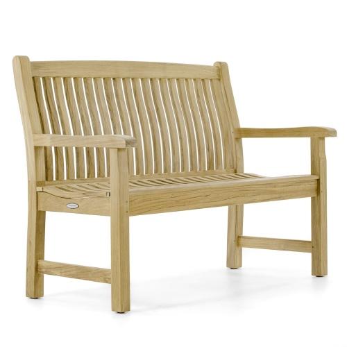 grade a teak deck bench
