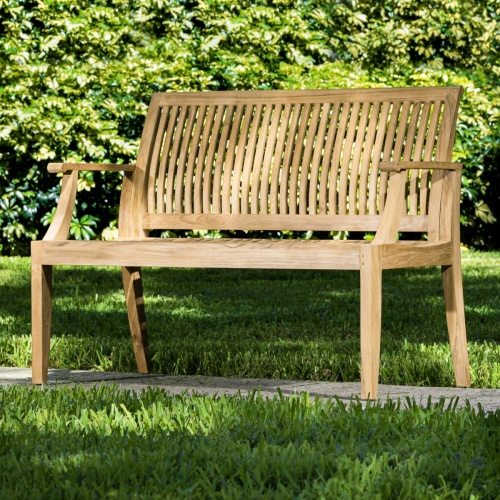 outdoor wooden teak garden bench