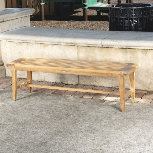patina grey teakwd bench