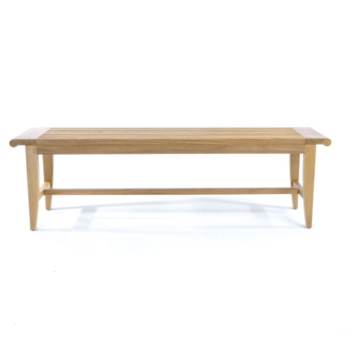 indonesian teak backless bench