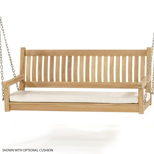 wooden swing bench