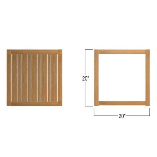 teakwood square side table natural
