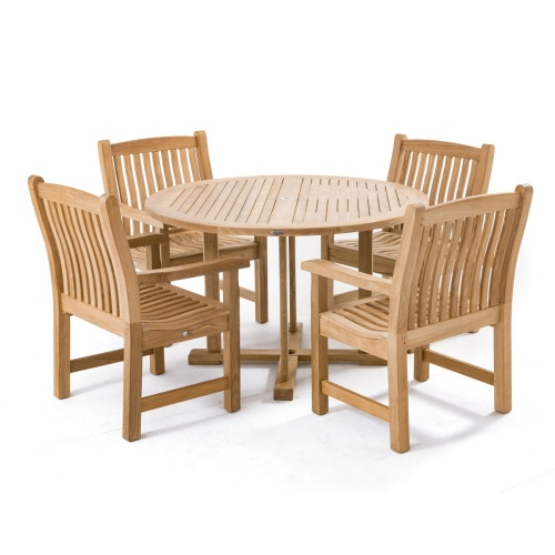 48 in teak round patio tables