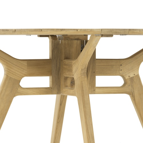 outside round dining table